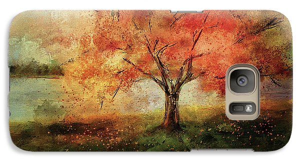 Galaxy Case featuring the digital art Sprinkled With Spring by Lois Bryan
