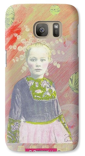 Galaxy Case featuring the mixed media Spunky Got Funky by Desiree Paquette