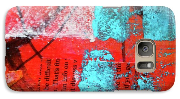 Galaxy S7 Case featuring the mixed media Square Collage No. 10 by Nancy Merkle