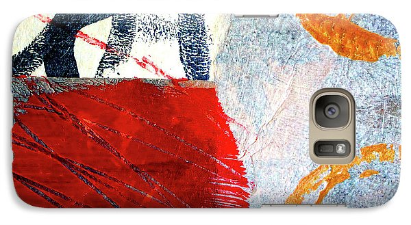 Galaxy S7 Case featuring the painting Square Collage No. 3 by Nancy Merkle