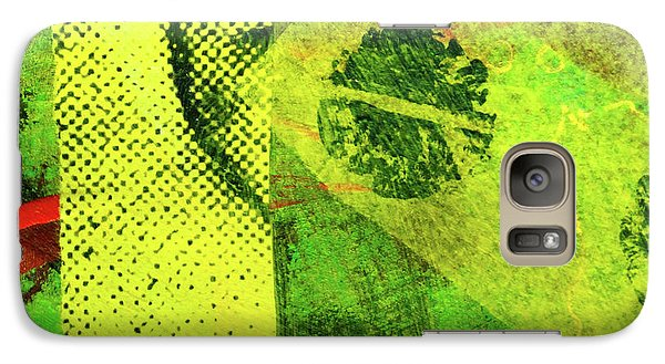Galaxy S7 Case featuring the mixed media Square Collage No. 8 by Nancy Merkle