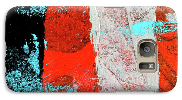 Galaxy S7 Case featuring the mixed media Square Collage No. 9 by Nancy Merkle