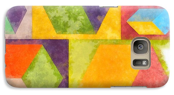 Square Cubes Abstract Galaxy S7 Case