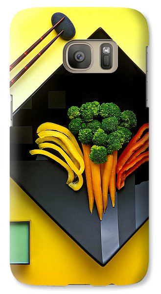 Carrot Galaxy S7 Case - Square Plate by Garry Gay