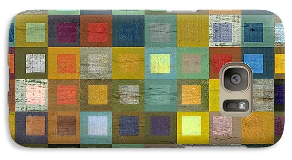 Galaxy Case featuring the digital art Squares In Squares Five by Michelle Calkins