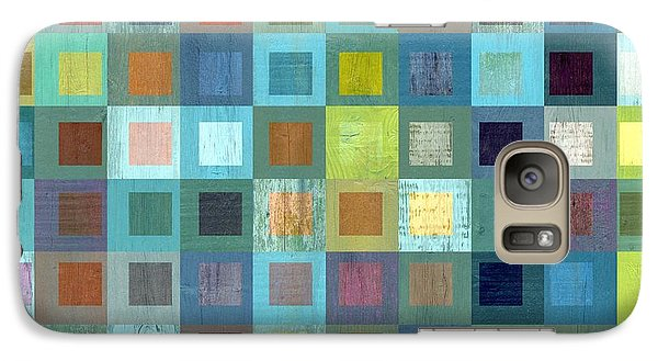 Galaxy Case featuring the digital art Squares In Squares Two by Michelle Calkins