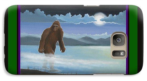 Galaxy Case featuring the digital art Squatch Season's Greetings by Stuart Swartz