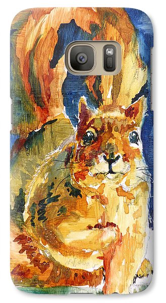 Galaxy Case featuring the painting Squeak by P Maure Bausch
