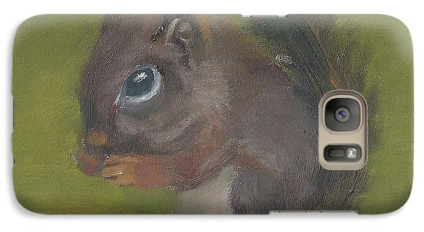 Galaxy Case featuring the painting Squirrel by Jessmyne Stephenson