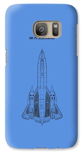 Sr-71 Blackbird Galaxy S7 Case by Mark Rogan