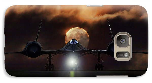 Galaxy Case featuring the digital art Sr-71 Supermoon by Peter Chilelli