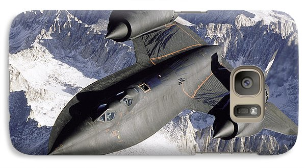 Sr-71b Blackbird In Flight Galaxy S7 Case