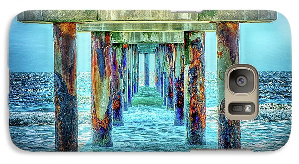 Galaxy Case featuring the photograph St. Augustine Beach by Louis Ferreira