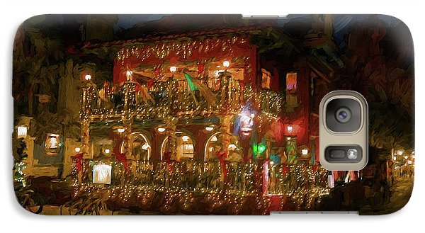 Galaxy Case featuring the photograph  St. Augustine Meehan's Pub by Louis Ferreira