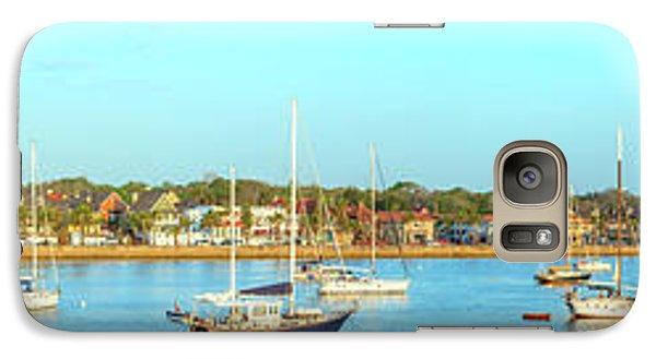 Galaxy Case featuring the photograph St Augustine Panorama by Sebastian Musial
