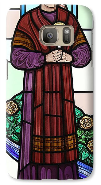 Galaxy Case featuring the glass art Saint Bernadette  by Gilroy Stained Glass