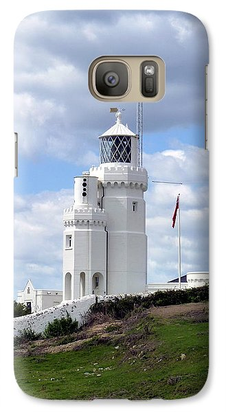 Galaxy Case featuring the photograph St. Catherine's Lighthouse On The Isle Of Wight by Carla Parris