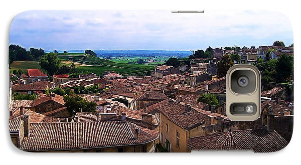 Galaxy Case featuring the photograph St. Emilion View by Joan  Minchak