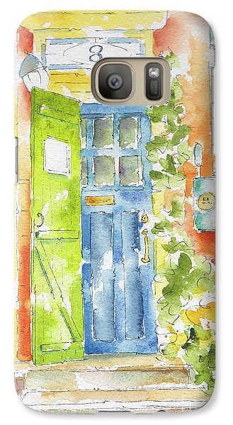 Galaxy Case featuring the painting St Johns Jelly Bean At 8 Wood Street by Pat Katz