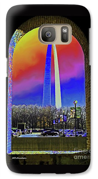 Galaxy Case featuring the photograph St Louis Arch Rainbow Aura  by Patricia L Davidson
