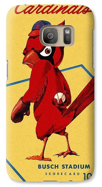 St. Louis Cardinals Vintage 1956 Program Galaxy S7 Case