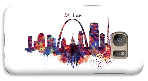 Galaxy Case featuring the digital art St Louis Skyline by Marian Voicu