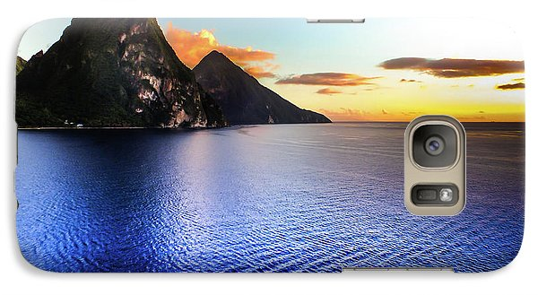 Galaxy Case featuring the photograph St. Lucia's Cobalt Blues by Karen Wiles