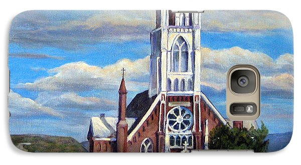 Galaxy Case featuring the painting St. Mary Of The Mountains by Donna Tucker