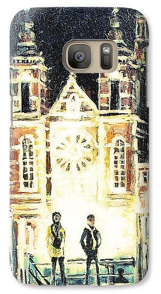 Galaxy Case featuring the drawing St Nicolaaskerk Church by Linda Shackelford