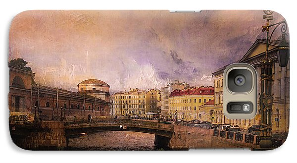 Galaxy Case featuring the photograph St Petersburg Canal by Jeff Burgess