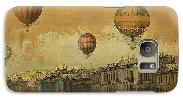 Galaxy Case featuring the digital art St Petersburg With Air Baloons by Jeff Burgess