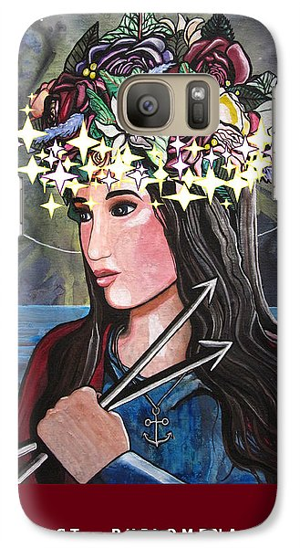 Galaxy Case featuring the mixed media St. Philomena by Mary Ellen Frazee