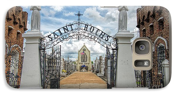 Galaxy Case featuring the photograph St. Roch's Cemetery In New Orleans, Louisiana by Bonnie Barry