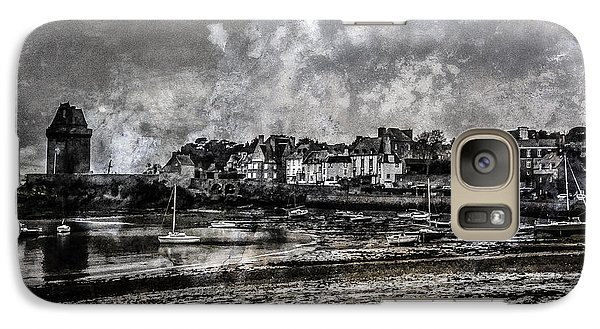 Galaxy Case featuring the photograph St Servan's Beach by Karo Evans