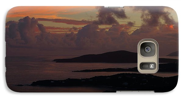 Galaxy Case featuring the photograph St Thomas Sunset At The U.s. Virgin Islands by Jetson Nguyen