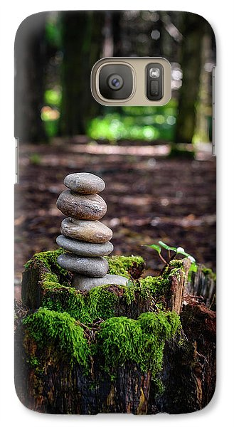Galaxy Case featuring the photograph Stacked Stones And Fairy Tales IIi by Marco Oliveira
