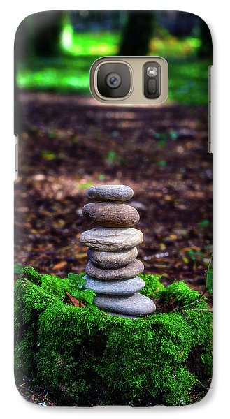Galaxy Case featuring the photograph Stacked Stones And Fairy Tales Iv by Marco Oliveira