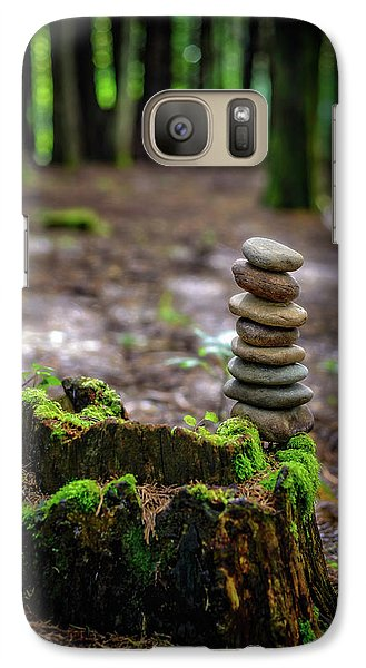 Galaxy Case featuring the photograph Stacked Stones And Fairy Tales by Marco Oliveira