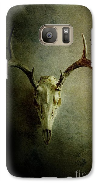 Galaxy Case featuring the photograph Stag Skull by Stephanie Frey
