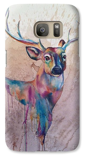 Galaxy Case featuring the painting Stag Spirit by Christy  Freeman
