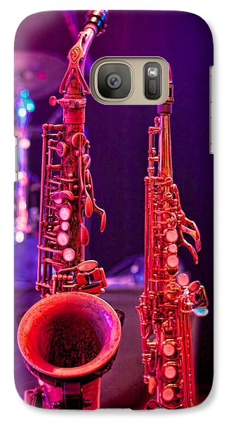 Galaxy Case featuring the photograph Stage Sax by Kim Wilson