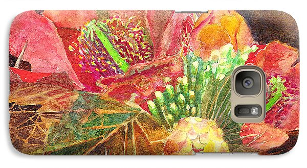 Galaxy Case featuring the painting Staghorn In Bloom by Eric Samuelson