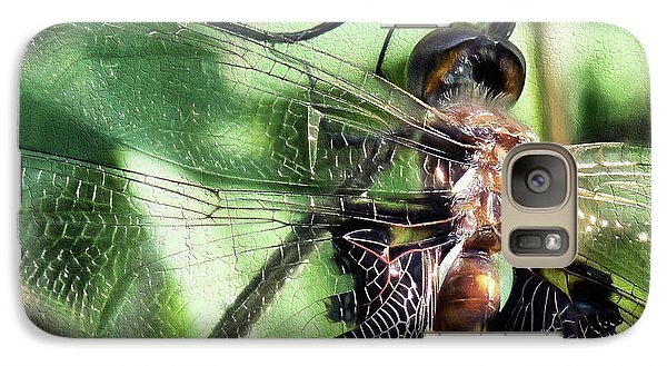 Galaxy S7 Case featuring the digital art Stained Glass Dragonfly by JC Findley