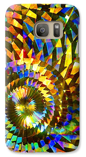 Galaxy Case featuring the photograph Stained Glass Fantasy 1 by Francesa Miller