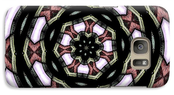 Galaxy Case featuring the photograph Stained Glass Kaleidoscope 12 by Rose Santuci-Sofranko