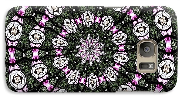 Galaxy Case featuring the photograph Stained Glass Kaleidoscope 3 by Rose Santuci-Sofranko
