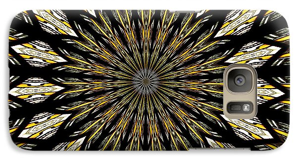 Galaxy Case featuring the photograph Stained Glass Kaleidoscope 5 by Rose Santuci-Sofranko