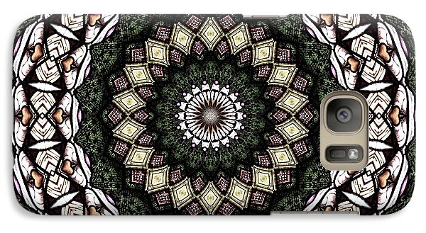 Galaxy Case featuring the photograph Stained Glass Kaleidoscope 6 by Rose Santuci-Sofranko