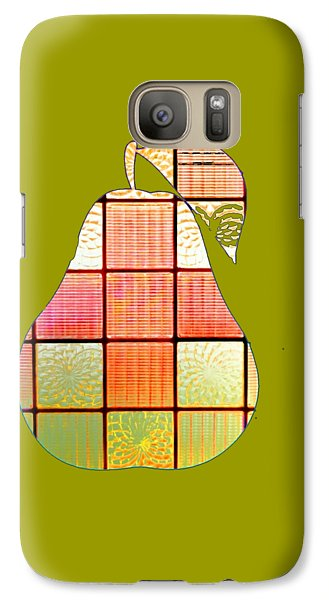 Stained Glass Pear Galaxy S7 Case