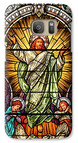 Galaxy Case featuring the photograph Stained Glass Scene 10 by Adam Jewell